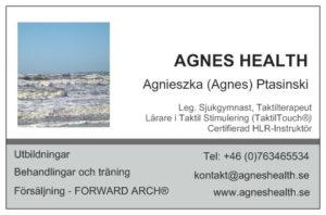AGNES HEALTH - visitkort